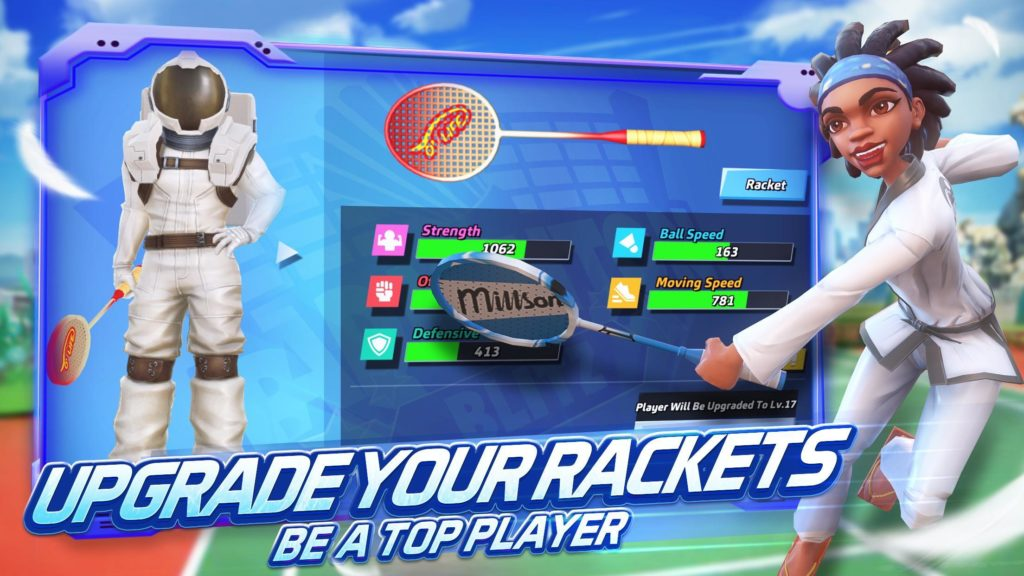"เกม Badminton Blitz""Game Mobile"""