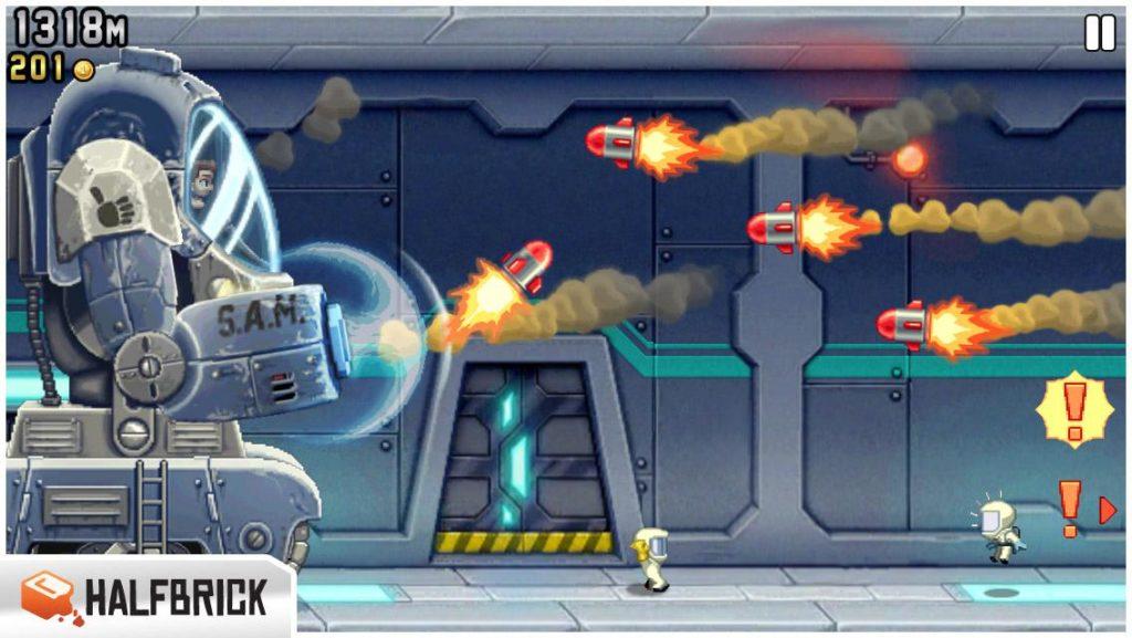 กราฟฟิกส์  เกม Jetpack Joyride