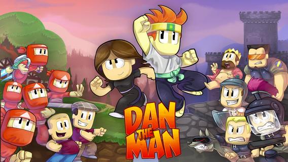 เกมมือถือแรมน้อย 1GB  Dan The Man 2