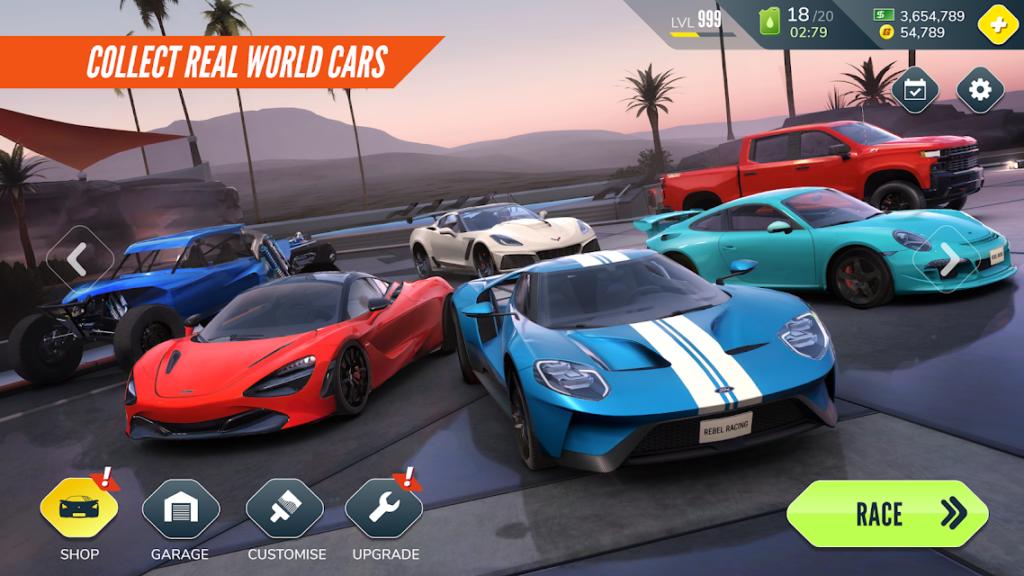 3 เกมแข่งรถ -Rebel Racing