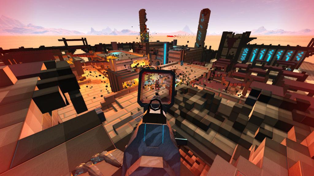 เกม Sector s Edge-กราฟฟิกในรูปแบบของ Pixel