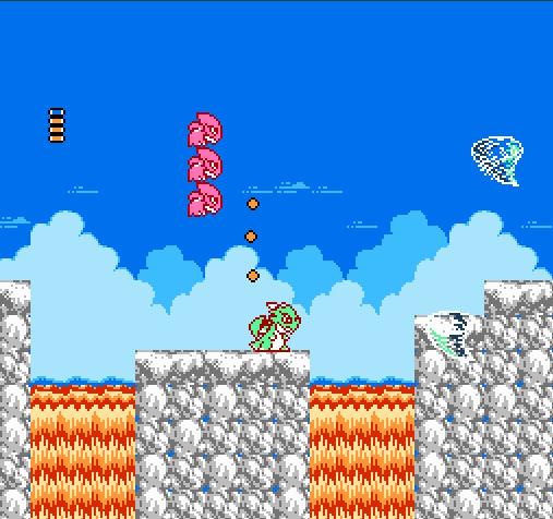 เกมลิตเติ้ลแซมซัน ผู้เล่นจะต้องคอยจัดการกับศัตรู