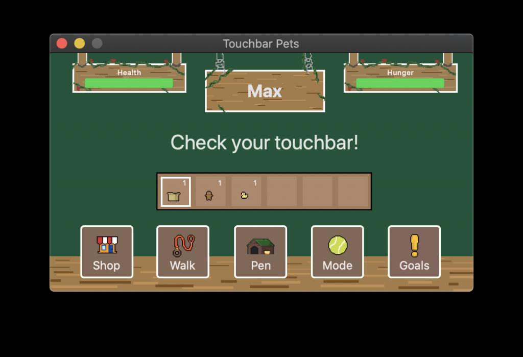 ข้อควรสังเกตระหว่างการเล่น เกม Touchbar Pet